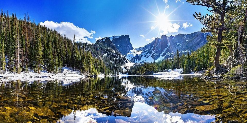 Hallett Peak in Rocky Mountain National Park. Climbing, Skiing, AIARE, and Mountaineering.