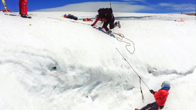 Crevasse Rescue Course. Travel on Glaciated Terrain Safely.