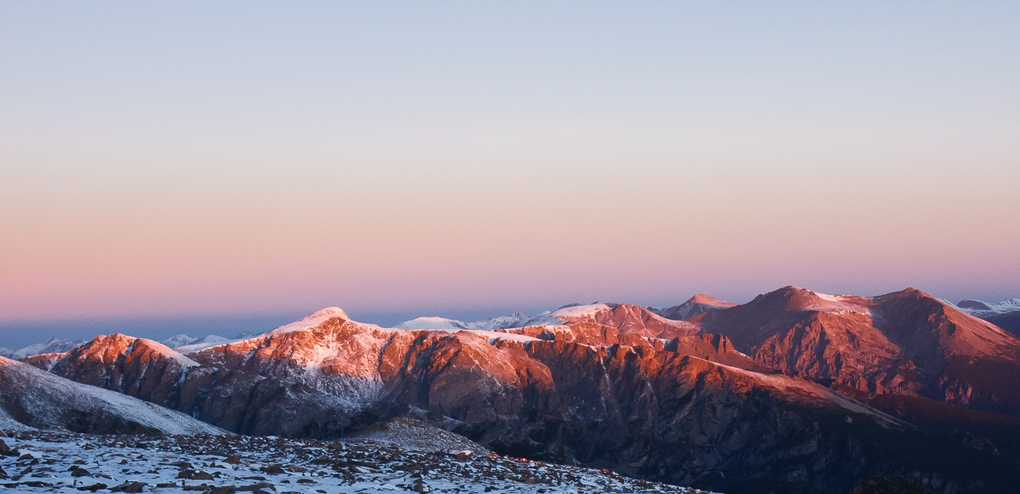 Rocky Mountain National Park Climbing. The Diamond.