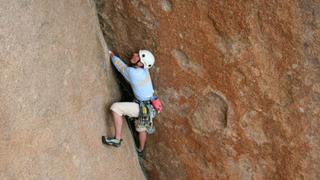 Crack Climbing Clinic and Courses with trained and certified guides.