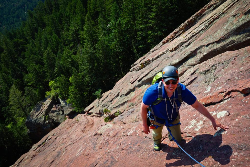 Climbing the Flatiron in Boulder, Colorado