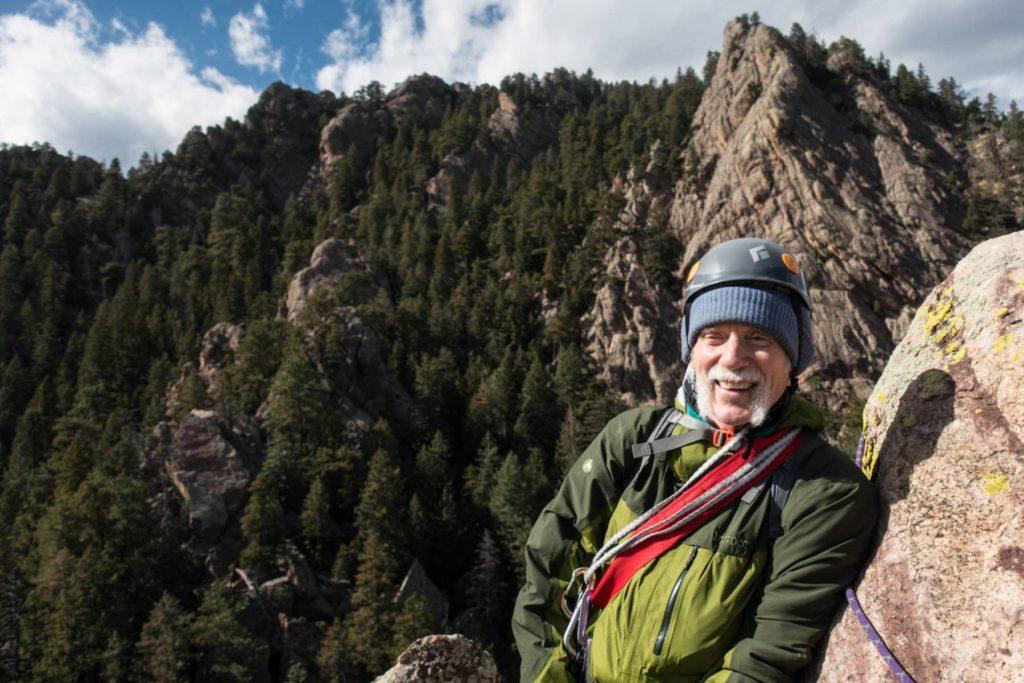 Boulder Flatiron Climb, Colorado