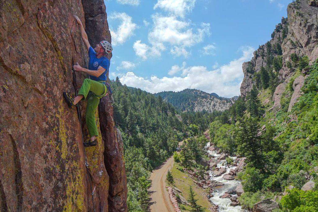 Climbing in Eldorado Canyon State Park, Boulder, Colorado