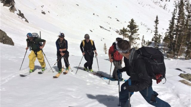 Introduction to Backcountry Skiing in Rocky Mountain National Park.