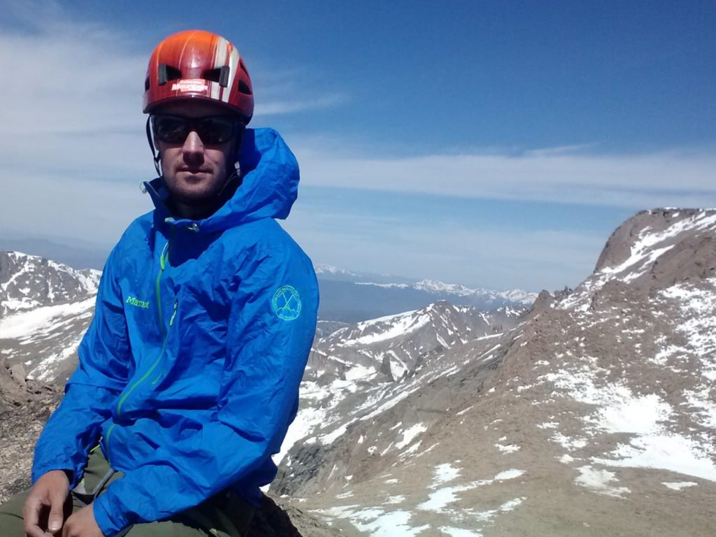 CMS Guide Ian Fowler wearing his Marmot Essence