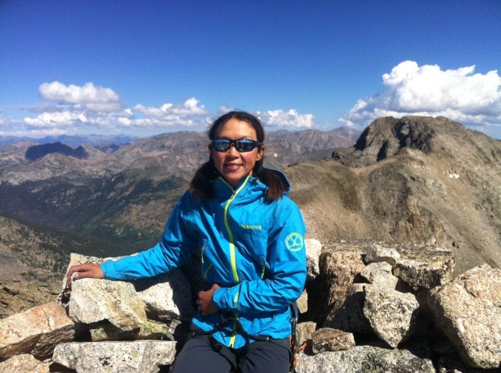 CMS Guide Norie Kizaki wearing the Marmot Nano jacket