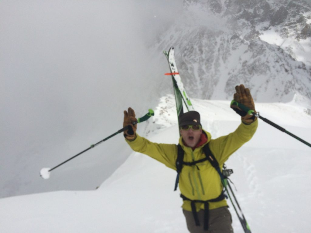 CMS Guide Dave Wolf excited to find the soft snow