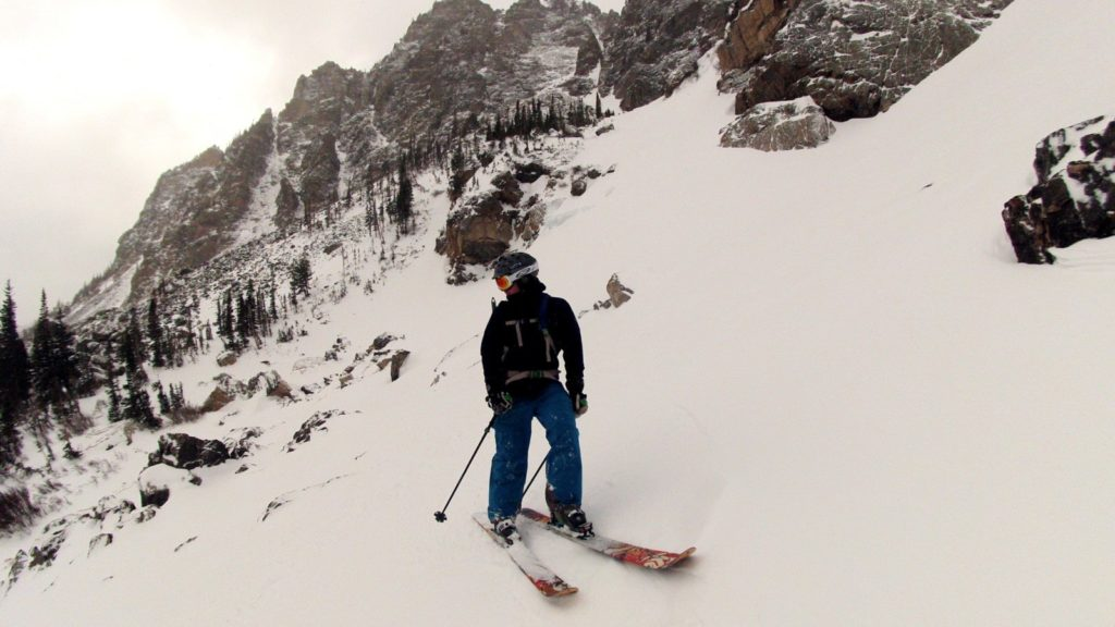 CMS client enjoying a recent two day Ski Mountaineering  course
