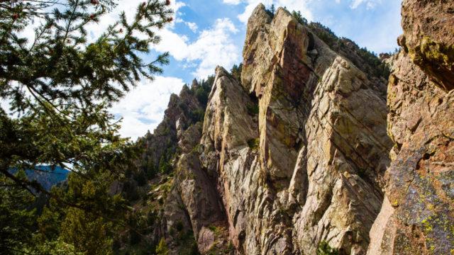 Eldorado Canyon Classic Climbing near Boulder Colorado.
