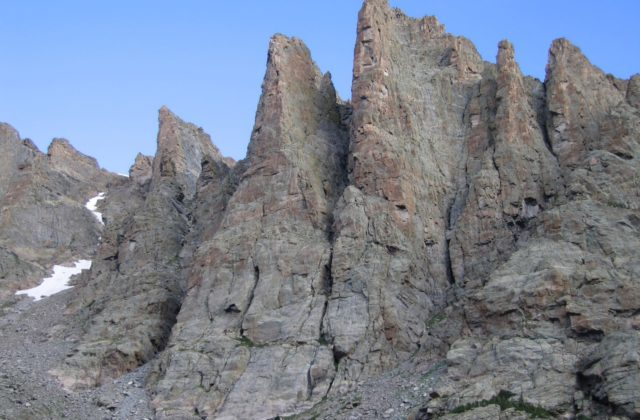 The Petit Grepon Alpine Rock Climbing. Rocky Mountain National Park Alpine Climbing.
