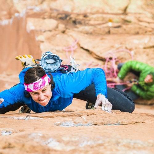 Mad Sensei Instructor Madaleine Sorkin leading a rock climb