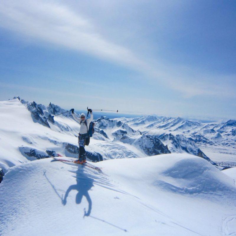 Alaska Ski Mountaineering on the Pika Glacier. Steep skiing with the comfort of base camp life.