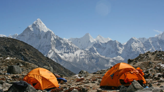 Lobuche East Nepal Himalaya Climbing Trip. Climb and Trek in the Himalaya's with mountain guides.