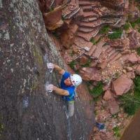 CAMP Storm Helmet Review. Jayson Simons-Jones Captures Image in Eldorado Canyon.