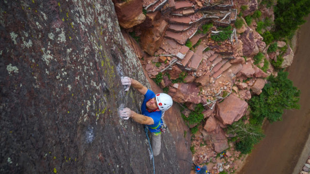 CAMP Storm Helmet Review. Jayson Simons-Jones Captures Image in Eldorado Canyon.