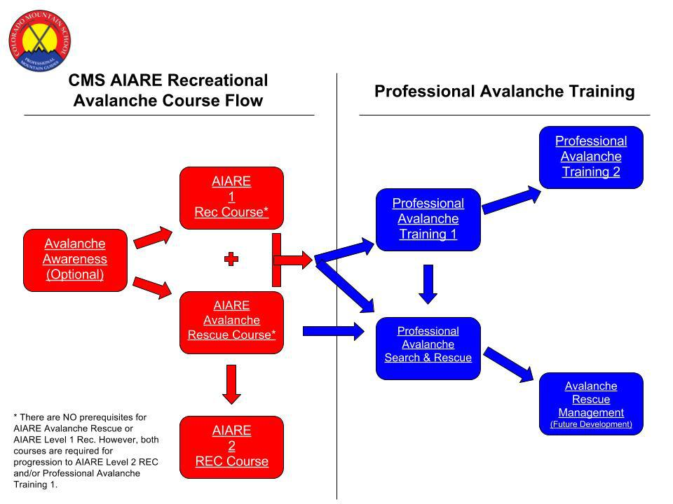 Which Avalanche Training Course Is Right For Me Aiare Flow Chart