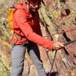 Max Lurie RAB Boreas Pullover Gear Review. Climbing rock in Eldorado Canyon.