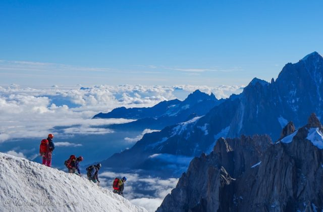 European Alps Climbing in Chamonix France.