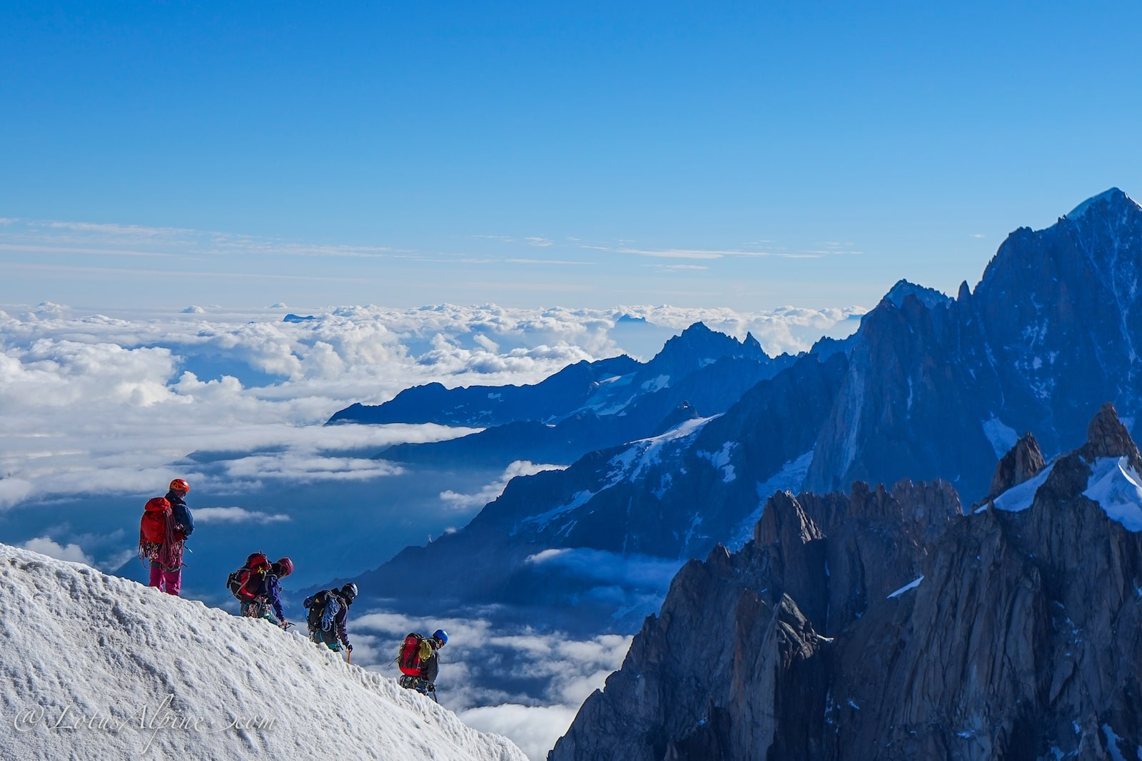 European Alps Climbing Program in Chamonix France.