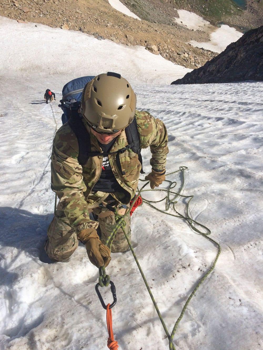 US Military training for high altitude mountaineering on alpine snow in Rocky Mountain National Park