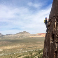 Red Rocks Climbing. Climbing Camp. Max Lurie