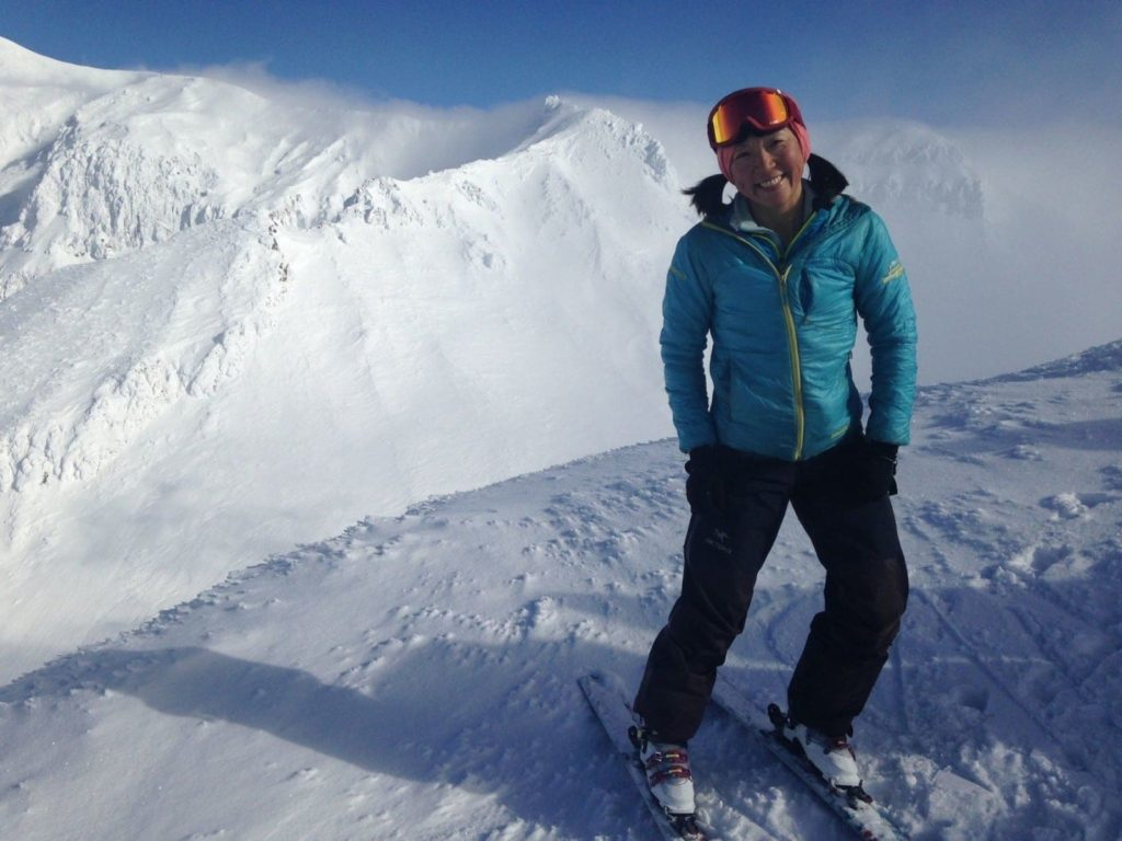 Colorado Mountain School ski guide Norie Kizaki enjoying some great backountry skiing