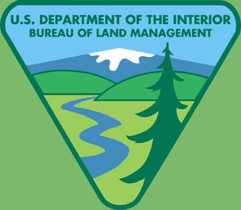 Logo of the United States Bureau of Land Management.