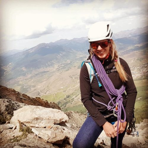 Karin Pock Guide at Colorado Mountain School