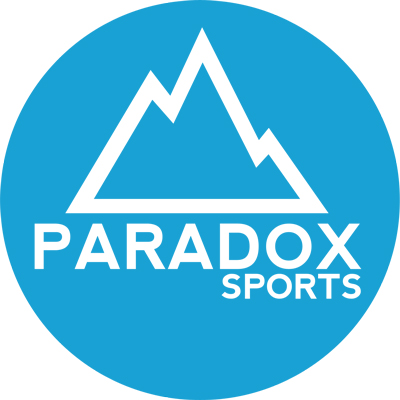 Logo for Paradox Sports - one of Colorado Mountain School's adventure fundraising charities.