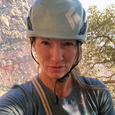 Sarah Janin, climbing guide and avalanche instructor.