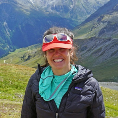 Eryka Thorley, happy to be out in the mountains.